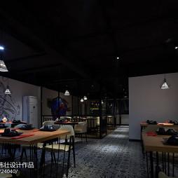 160㎡龙虾主题餐厅整体设计图