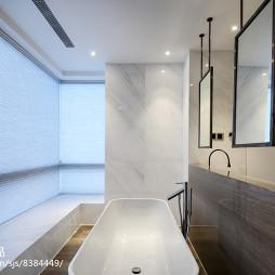 北欧别墅卫浴浴缸设计图
