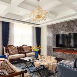 独特美式别墅客厅设计图片