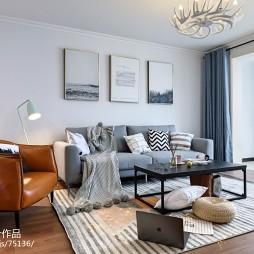北欧客厅沙发摆放设计图