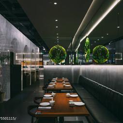 新加坡餐厅卡座设计图