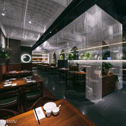 新加坡餐厅桌椅摆放设计图