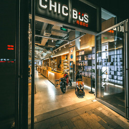奇客巴士店大门设计图