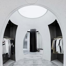衣服卖场1F入口设计图