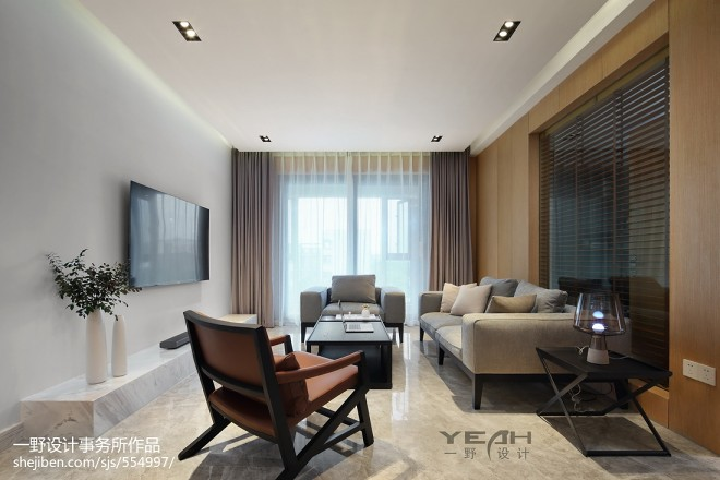 129㎡ 现代风格客厅设计图