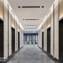 上海鲁能国际中心电梯走廊设计