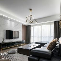 140㎡现代客厅设计效果图