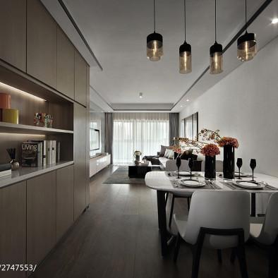现代二居餐厅设计效果图