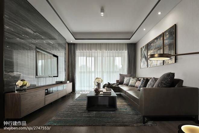 现代二居客厅设计效果图片