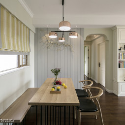 北欧木色餐厅设计图片