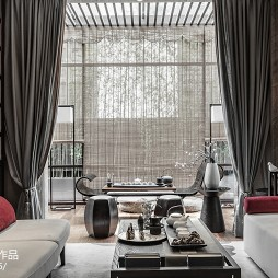 经典中式别墅客厅设计图