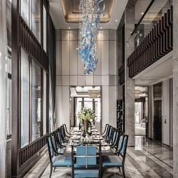 经典中式别墅餐厅设计图片