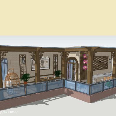 聚龙小镇-别墅阳台景观设计项目