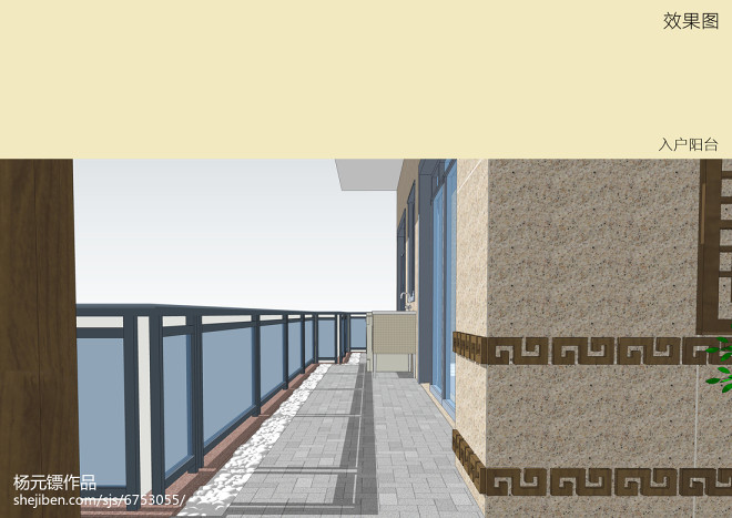 聚龙小镇-别墅阳台景观设计项目_30