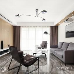 130㎡简约风格客厅设计图