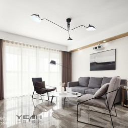 130㎡简约风格客厅设计图片