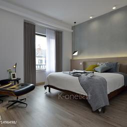简约复式卧室设计效果图