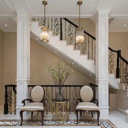 经典美式别墅楼梯设计图