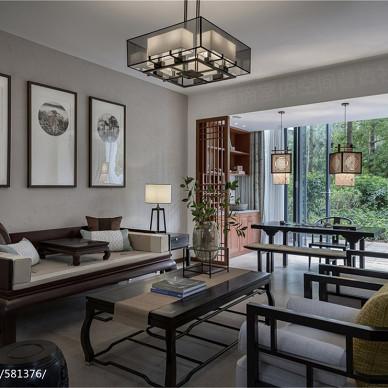 南山宅中式客廳設計圖