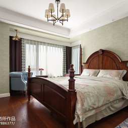简单美式三居卧室设计