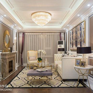 美式样板房客厅设计图