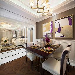 美式样板房餐厅设计图片