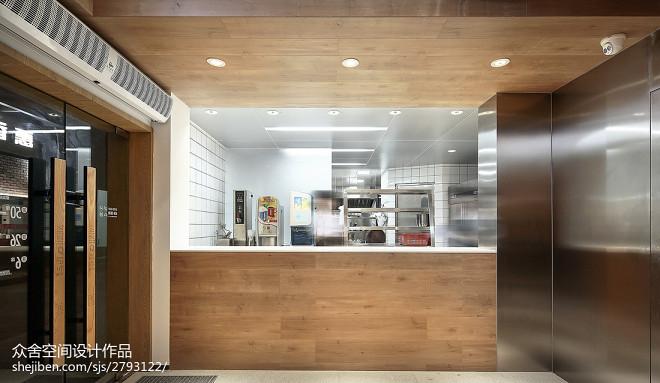 「味兮良食」餐厅前台设计图