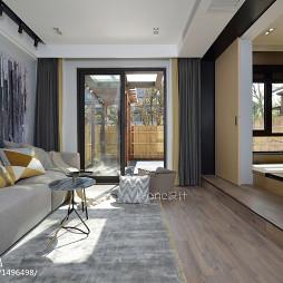 精简日式别墅客厅设计图
