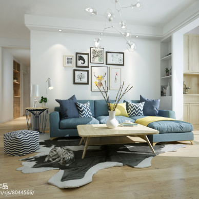 万国城住宅北欧风格空间设计_3036312