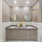 别墅卫浴洗手盆设计图