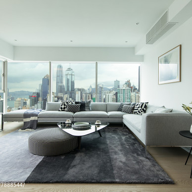 香港中半山匯賢居客廳設計圖