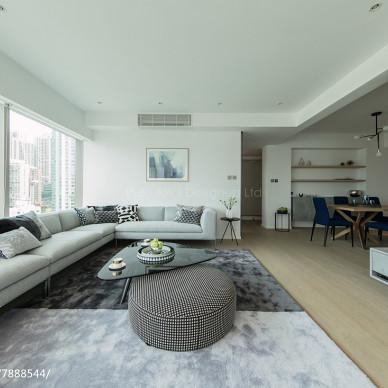 香港中半山匯賢居客廳設計圖片