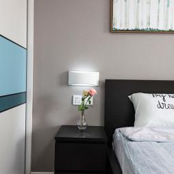 可爱北欧二居卧室床头灯设计图