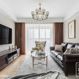 90㎡简约美式客厅设计图片