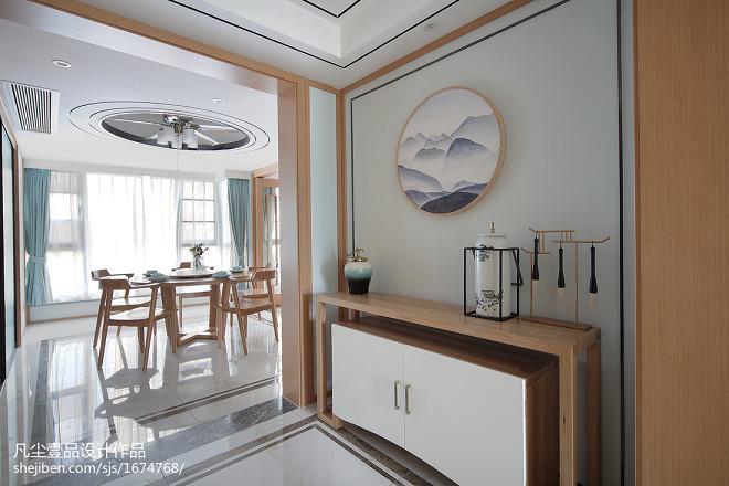 中式风三居玄关设计图