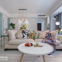 130m²ins北欧风客厅沙发设计图