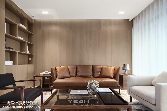 189㎡简约混新中式客厅设计图