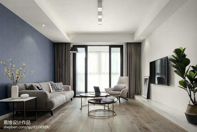 现代四方形客厅设计图