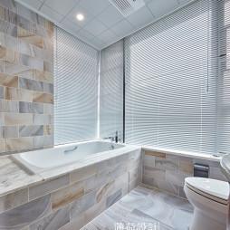 简单美式四居卫浴设计效果图
