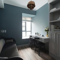北欧风格四居书房书桌设计图