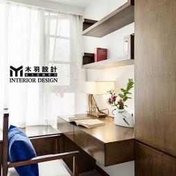 中式家装书房书桌设计图