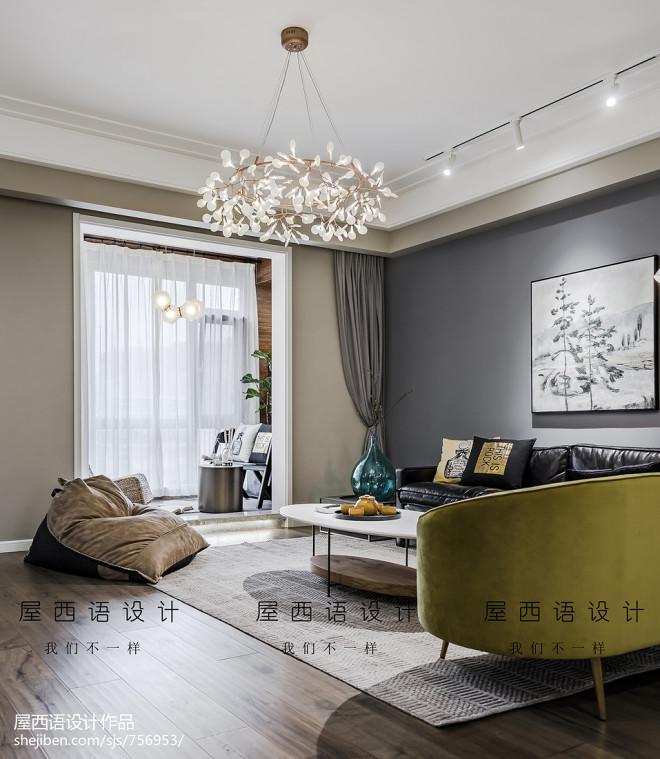 北欧豪宅客厅吊灯设计图