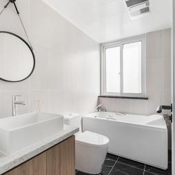 简洁北欧三居卫浴设计图