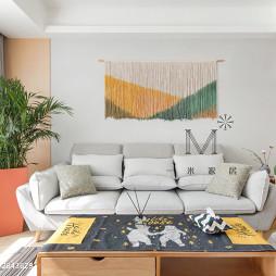 简单北欧二居客厅沙发设计图片