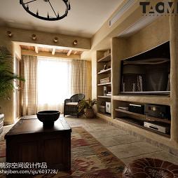 个性混搭四居客厅设计图