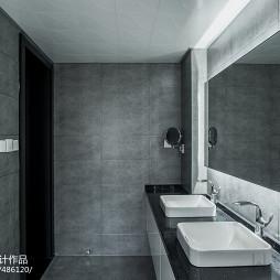 灰色系现代卫浴洗手盆设计图