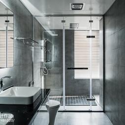 灰色系现代卫浴设计图片