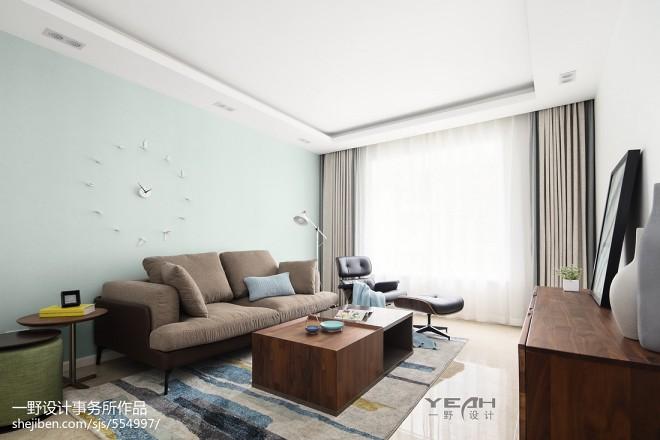 129㎡ 北欧风格客厅设计图