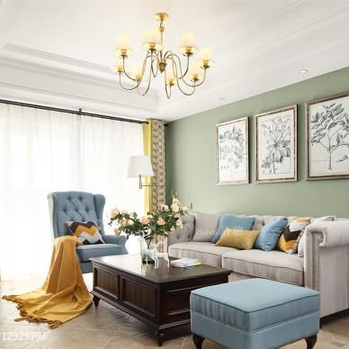 汇景豪苑美式客厅吊灯设计图