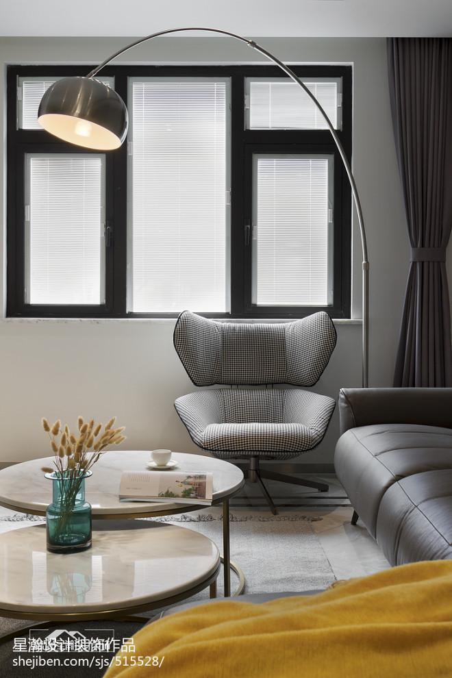 现代复式客厅落地灯设计图
